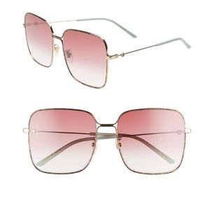 Accessories - Gucci Pink Sunglasses Gold/Brown Frame!